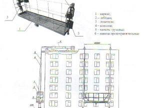 Люлька строительная лэ 150-300 б/у