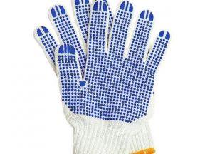 Перчатки х/б с пвх