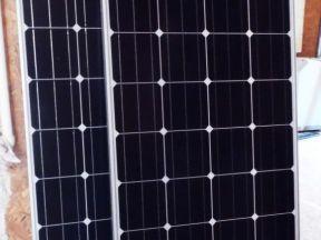 2 солнечные панели и контроллер заряда