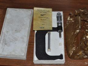 Микрометр гладкий мк-100 (75-10мм.) 1971г