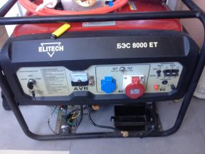 Бензиновый генератор Elitech бэс 8000 ет