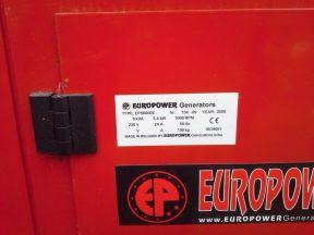 Бензиновый электрогенератор europower EPS6000E