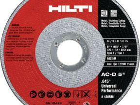 Отрезной диск hilti AC-D 125x1.0 Ап