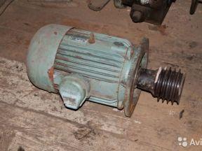Электродвигатель от токарного 1к62,10кВт,1500 об