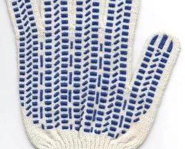 Рабочие перчатки х/б с пвх белые