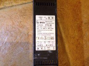 Трансформатор 220v-12v 20w-60w TCI PTE 60 Италия