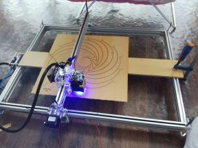 Лазерный гравер 10 мВт. 500х650