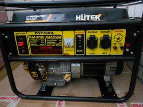 Бензиновый генератор huter DY6500L, 220 В, 5кВт