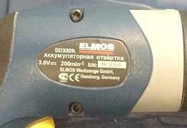 Аккумуляторная отвёртка elmos sd 320k