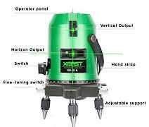 Лазерный уровень (нивелир). 5 зелёных лучей