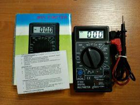 Улучшенный Мультиметр DT-832 (переделан на литий)