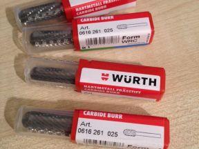 Wurth Бор-фреза сфероцилиндрическая 0616 261 025