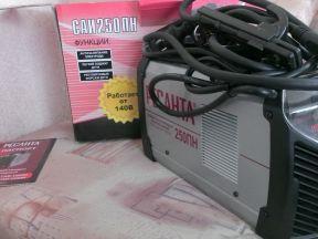 Новый сварочный аппарат ресанта саи 250 пн