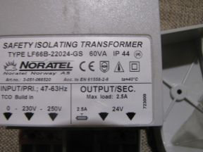 Трансформатор 220/24В noratel LF66B-22024-GS