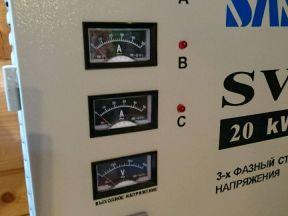 Трехфазный стабилизатор напряжения Sassin SVC 20 K