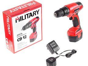 Дрель аккумуляторная military CD12 + подарок