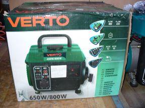 Генератор бензиновый Verto 800w.Новый