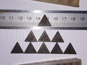 Твердосплавные треугольники Р20, пластины, СССР