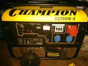 Генератор champion GG7501E-3 (380 В) 8.1 кВт новый