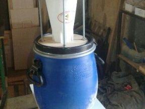 Циклон -промежуточный фильтр для пылесоса в сборе