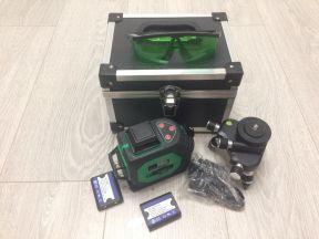 2D лазерный уровень (нивелир, зеленый луч)