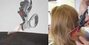Удобные ножницы с лазерным наведением по метке