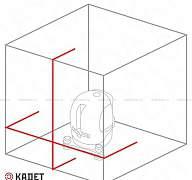Нивелир лазерный уровень (построитель) kadet нов