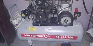 Компрессор масляный интерскол кв-645/100 380 В