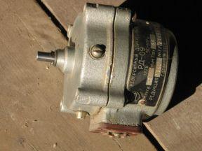 Электродвигатель с редуктором рд-09 (4,4об/мин)