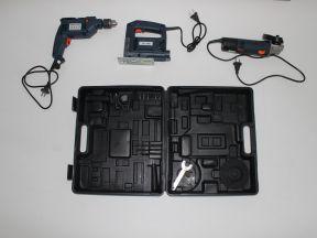 Комплект: электродрель, болгарка, электролобзик
