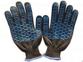 Перчатки Х/Б черные плотные, краги