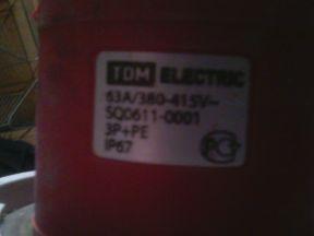 Силовые разъемы TDM Electric 63A