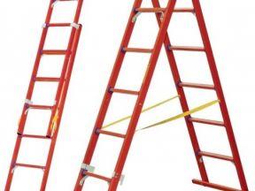 Лестница-стремянка диэлектрическая двухсекционная
