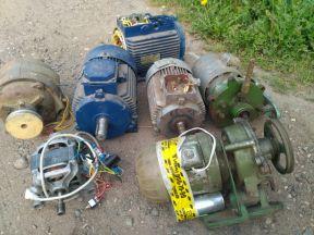Электродвигатели разные б/у и новые