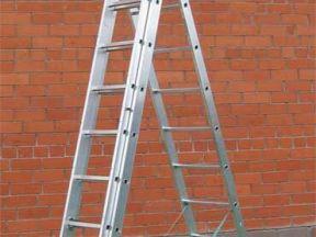 Алюминевая 3-х секционная лестница 11 м