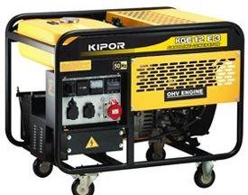Электрогенератор бензиновый Kipor KGE12T3 б/у