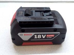 Аккумулятор Bosch 18V, 6 Аh