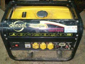 бензогенератор denzel 2500