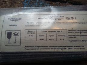 Электроды 2мм