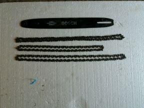 Шина bosh, цепи для пилы