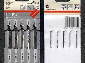 Пилки для лобзика по дереву 5 шт. T101BR Bosch
