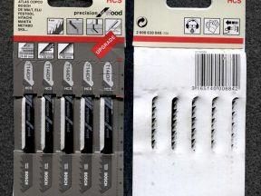Пилки для лобзика по дереву 5 шт. HCS T144DP Bosch