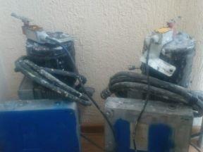 Двигатель с редуктором от фасадного подъемника
