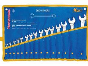 Набор комбинированных ключей kraft 15шт (6-24 мм)