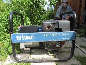 Бензогенератор sdmo HX7500T б/у