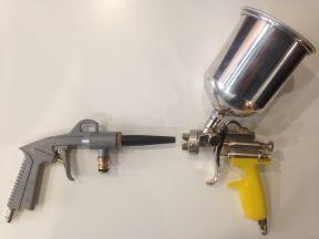 Краскопульт и промывочный пистолет для компрессора