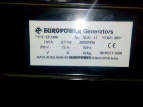 бензогенератор europower EP 3300