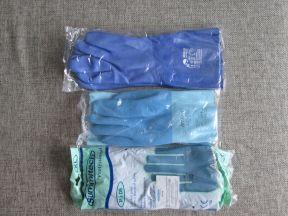 Перчатки из латекса с х/б подкладкой