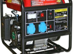 Бензиновый генератор дде 2101