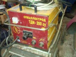 Сварочный аппарат тдм 200 су переменного тока